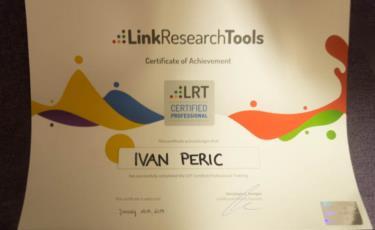 Link Research Tools SEO obuka u Austriji Foto