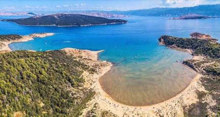 9. Enjoy the peace at Sahara beach on the island of Rab and take off your clothes