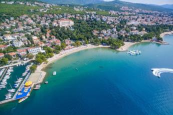 14. Come to Crikvenica Town Beach and enjoy the clear Croatian sea